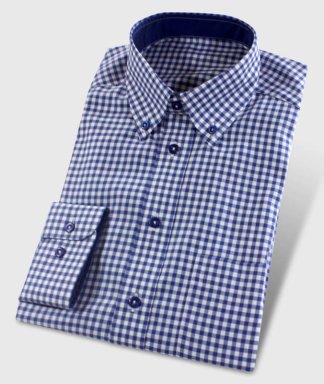 Vichy kockovaná košile tmavo modrá