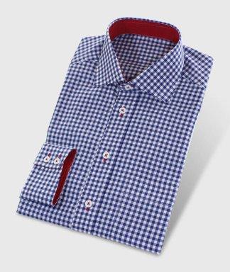 Casual košile červeno modrá
