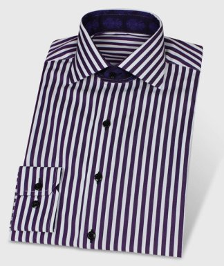Exklusives ausgefallenes und festliches Streifenhemd