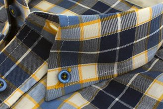 #1314 Blue yellow white checkered