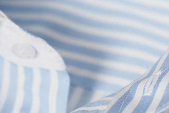 #1728: brennet-Stoff mit eingewebten hellblauen Streifen (Stoff nicht mehr lieferbar)