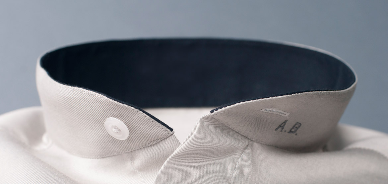 Monogram on collar