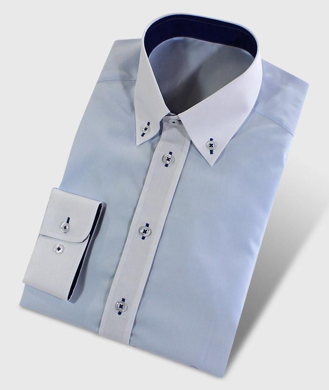 Hemd mit Buttondownkragen blau und weiß